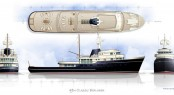 New 49m Classic Explorer Motor Yacht Concept by Rhoades Young