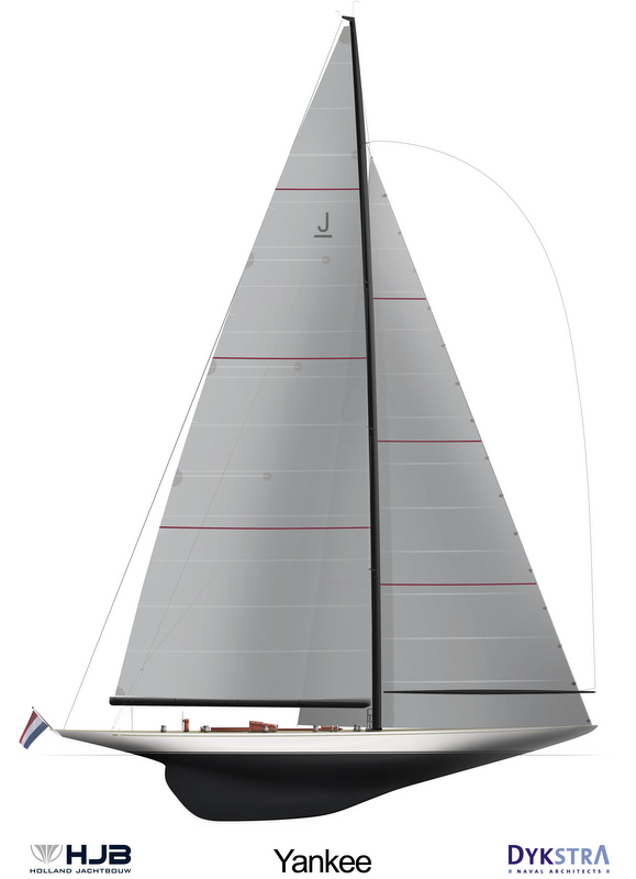 New J Class sailing yacht Yankee by Dykstra Naval Architects and Holland Jachtbouw