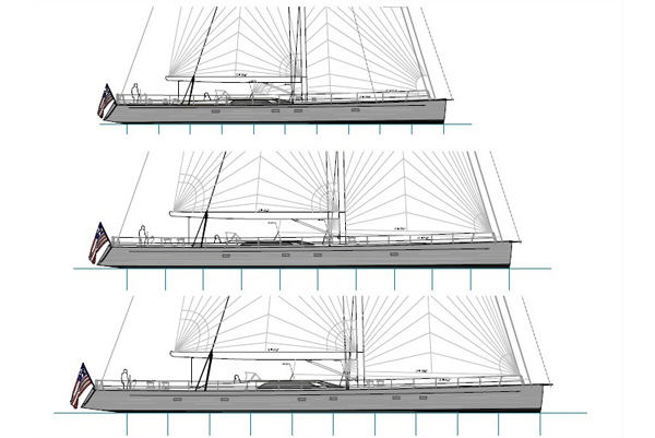 New Sailing Superyacht Line unveiled by Front Street Shipyard and Tripp Design
