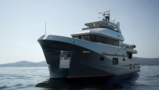 New motor yacht Bering 77 design by Bering Yachts
