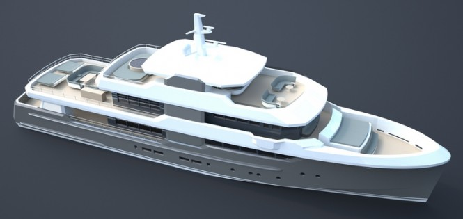 OCEAN NOMAD superyacht concept from above