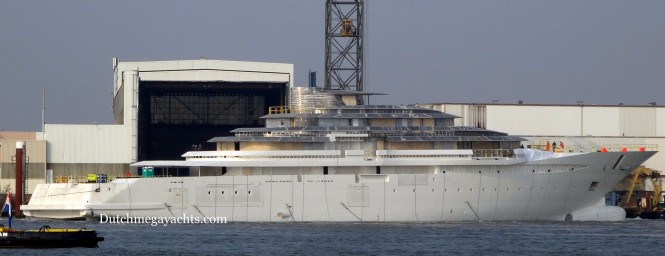 Oceanco Y714 superyacht Project Jubilee - side view - Photo by Dutchmegayachts