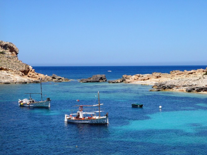 Photo by  Xescu Prats -  'Llaüts' (fisherman boats) in Portinatx - Courtesy of Consell de Ibiza copy
