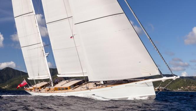 Royal Huisman superyacht ELFJE under sail - Photo credit to Cory Silken