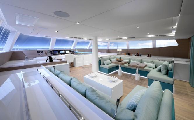 Sunreef 74 catamaran WildBerry - Saloon