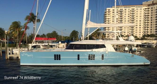 Sunreef 74 catamaran WildBerry in the beautiful Florida yacht holiday location - Fort Lauderdale