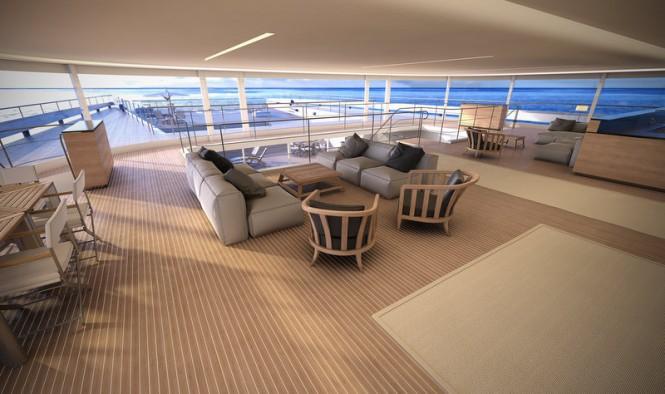 Super yacht Manifesto concept - Main Deck Saloon