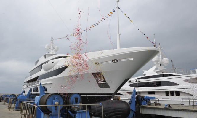 Super yacht Surpina ready to hit the water