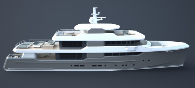Superyacht OCEAN NOMAD concept - side view