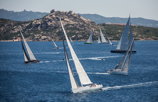 The Loro Piana Superyacht Regatta 2014 in the lovely Sardinia yacht charter location - Porto Cervo