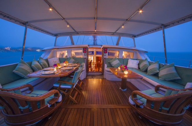Whisper Yacht's spacious exterior