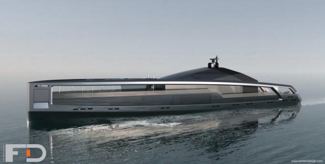 100m mega yacht Maximus concept by Facheris Design