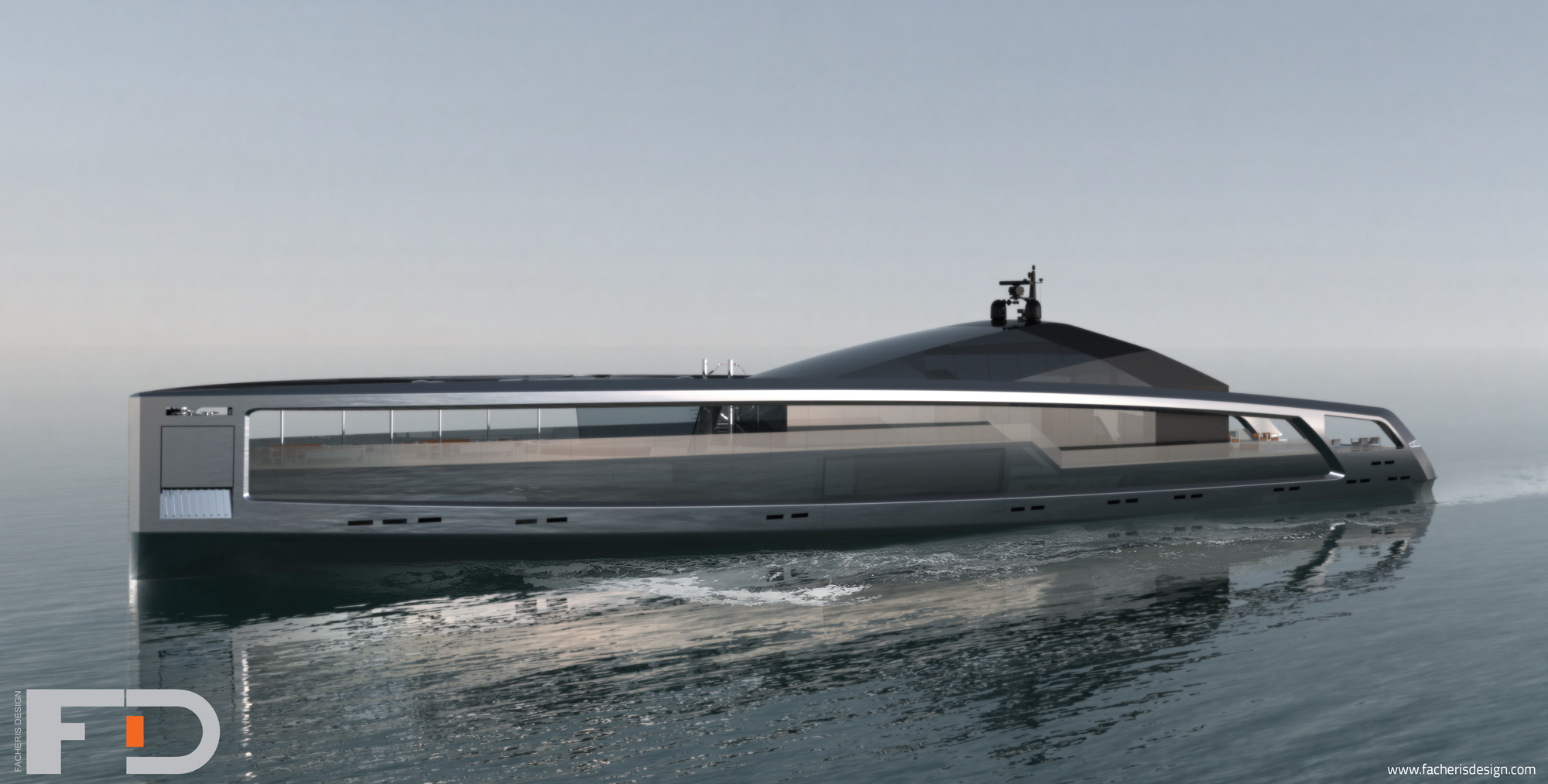 100m Mega Yacht Maximus Concept By Facheris Design