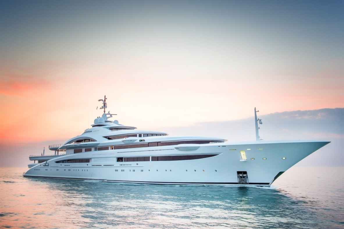 122M motor yacht Maryah arrives in Livorno, Italy, after