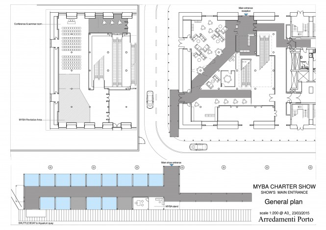 2015 MYBA Charter Show - New Reception Area Plan