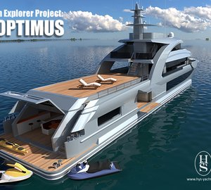 New exciting 43m explorer yacht project with four design options unveiled by HYS Yachts