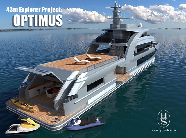 43m explorer yacht Optimus design by HYS Yachts
