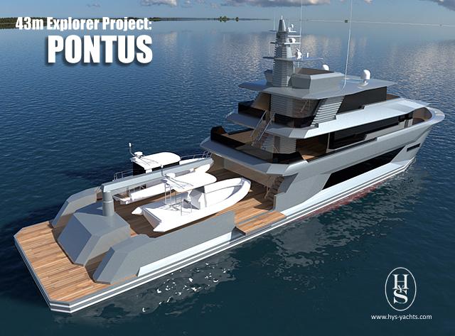 43m luxury yacht Pontus design