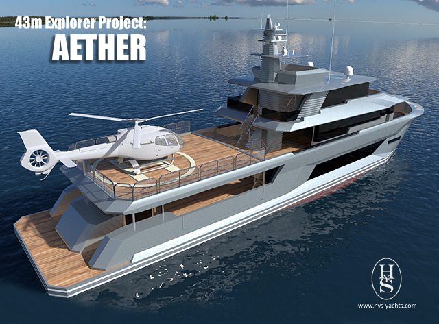 43m super yacht Aether design