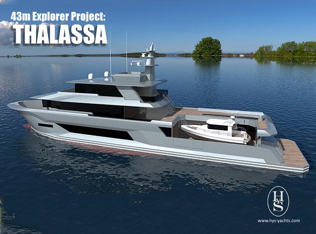 43m superyacht Thalassa design