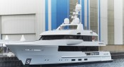 44m Feadship superyacht Moon Sand (hull 690) at launch