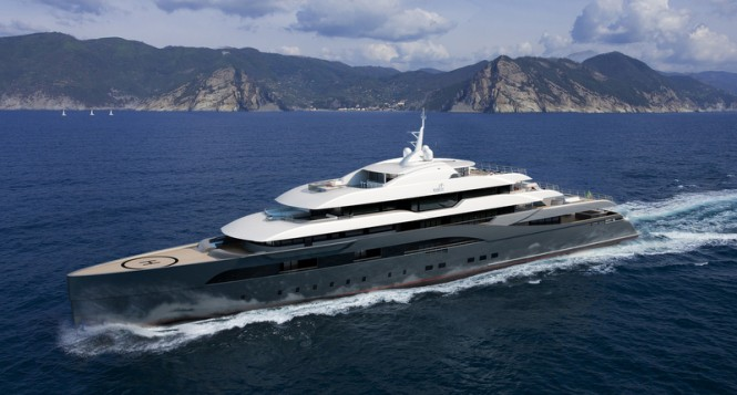 85m mega yacht RIBOT 85 concept by Marco Casali Too-design