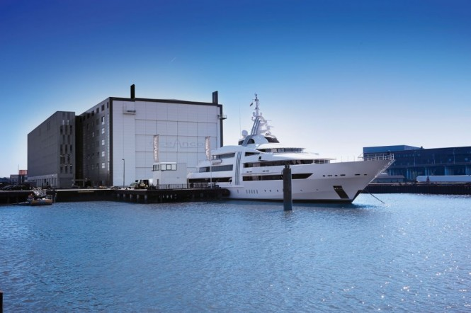 85m mega yacht Vibrant Curiosity back at Oceanco