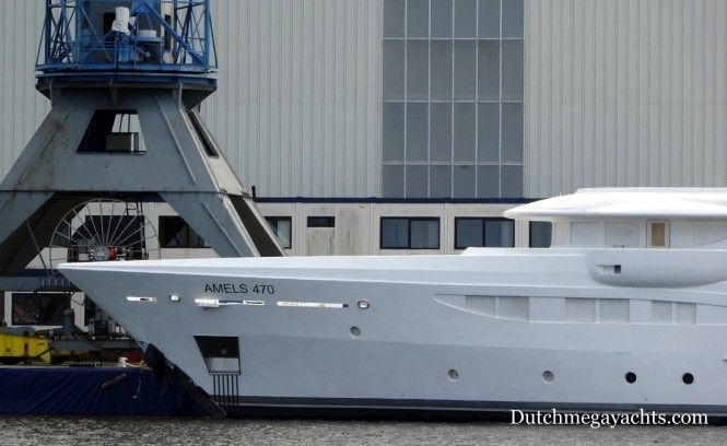Amels Yacht Hull 470 - bow - Photo by Dutchmegayachts