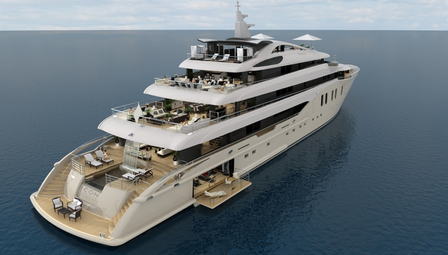 Another striking superyacht by ICON Yachts and Tim Heywood - the 76m mega yacht ICON 250
