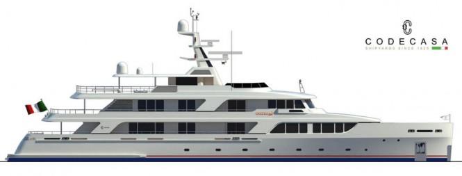 Codecasa 50 Vintage Series superyacht GAZZELLA (hull C 121, Project Falcon) - Profile