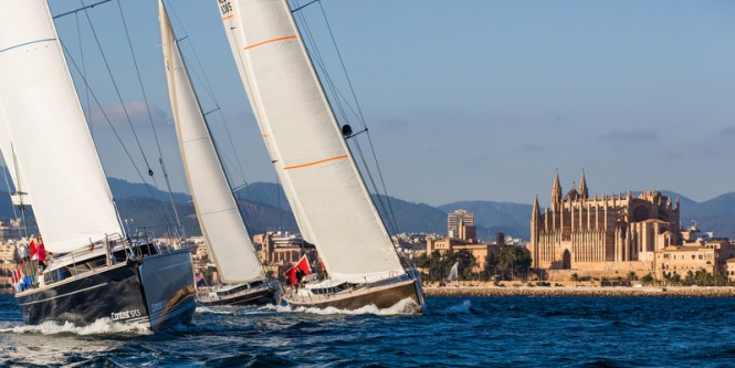 Contest 72CS Yacht sailing in Mallorca in 2014