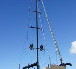 Beautiful 37m Fitzroy Sailing Yacht ESCAPADE hauls out at Oceania Marine