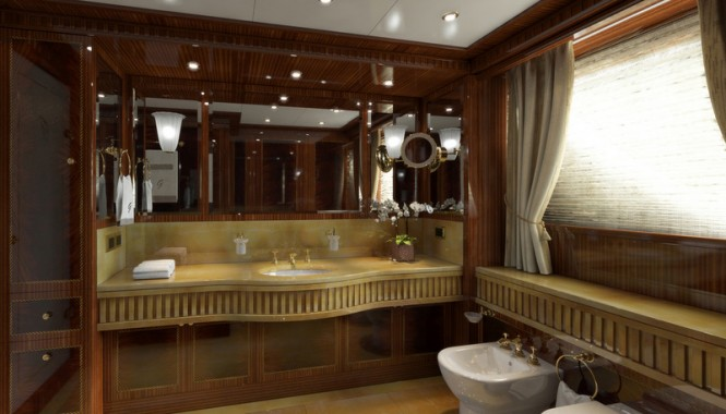 GAZZELLA superyacht - Owners Bathroom