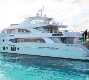 New renderings of Gulf Craft's Majesty 155 Yacht