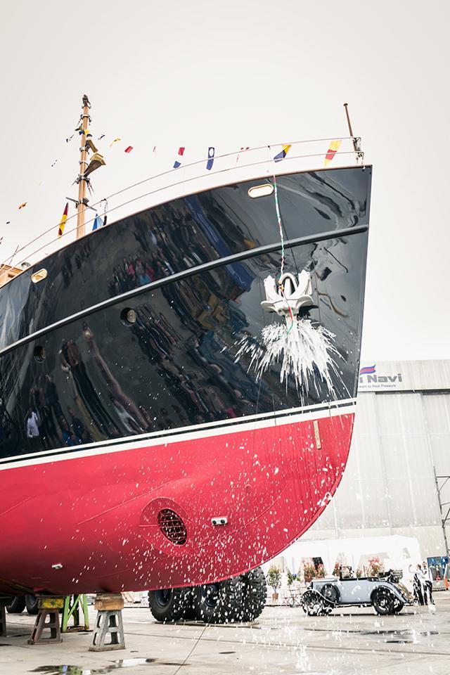 Launch of the 38m classic yacht Taransay (FR029) at Rossinavi - Photo credit to Wioletta Kowalska and Rossinavi