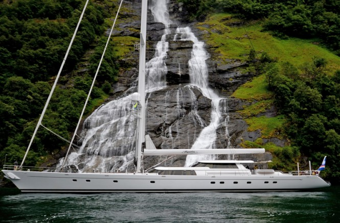 Luxury charter yacht Hyperion in the fantastic Norway yacht charter location - Photo by Daniel Rawlins