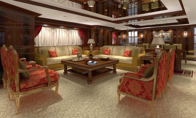Luxury yacht GAZZELLA - Main Saloon