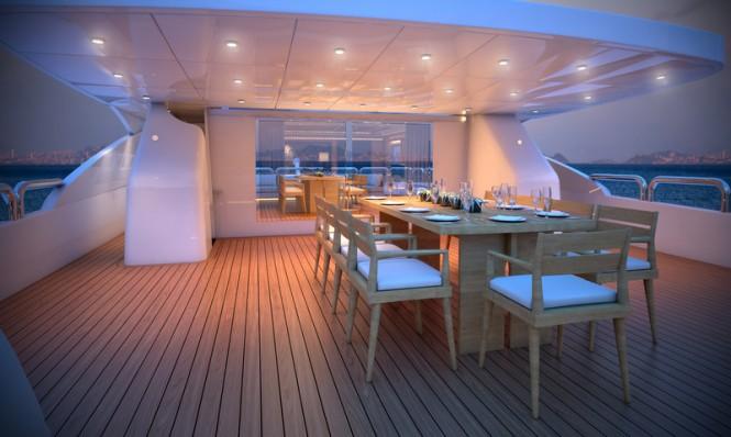 Luxury yacht Majesty 155 - Aft Upper Deck