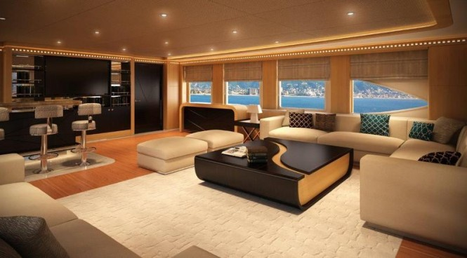 Majesty 155 Yacht - Upper Saloon Bar
