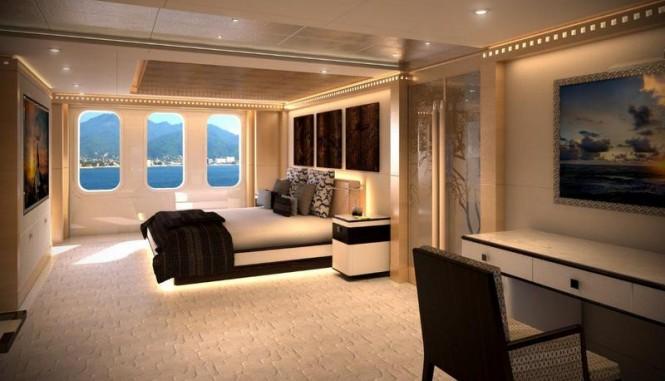 Majesty 155 superyacht - Owners Stateroom