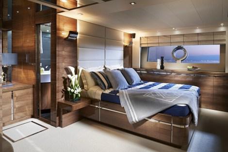 Master Stateroom - Sunseeker 80 Sport Yacht