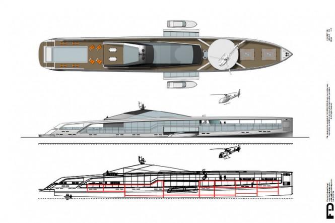 Maximus superyacht profile - Deck Plan and Profile