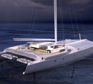 Newly refitted 120' catamaran VITALIA II (ex Orange 2) to be launched by Multiplast on April 17, 2015