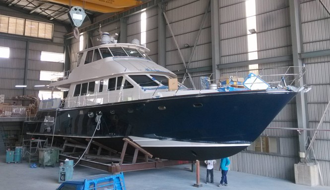 New superyacht Hunt 80 nearing completion - Photo by Hunt Yachts