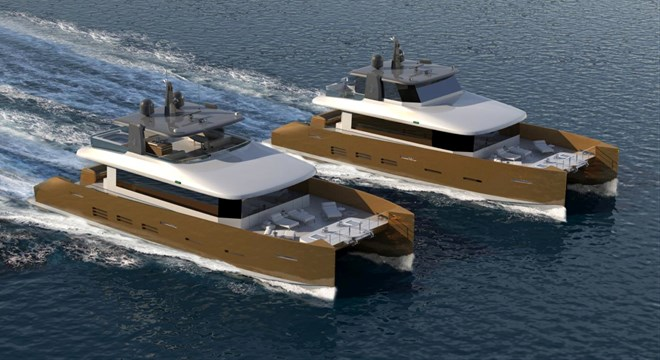 Original design of Kingship motor yacht KingCAT 85 refined by ER Yacht Design