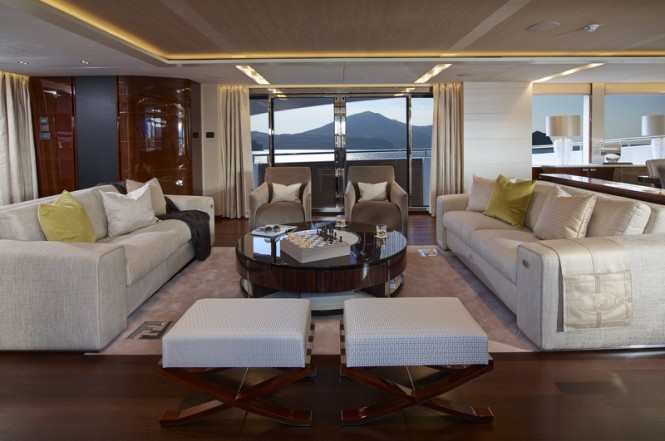 Princess 40M Hull 4 motor yacht X5 - Saloon - Image credit to Princess Yachts International plc