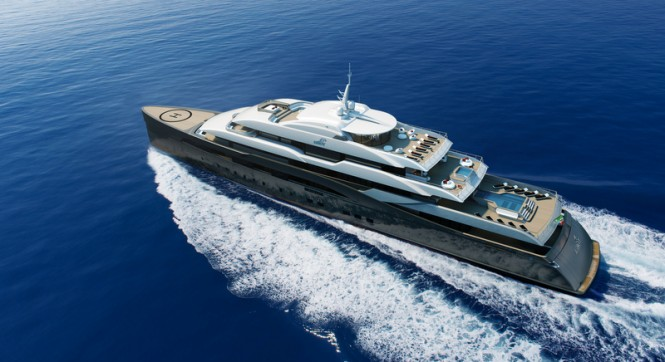 RIBOT 85 Yacht Design from above