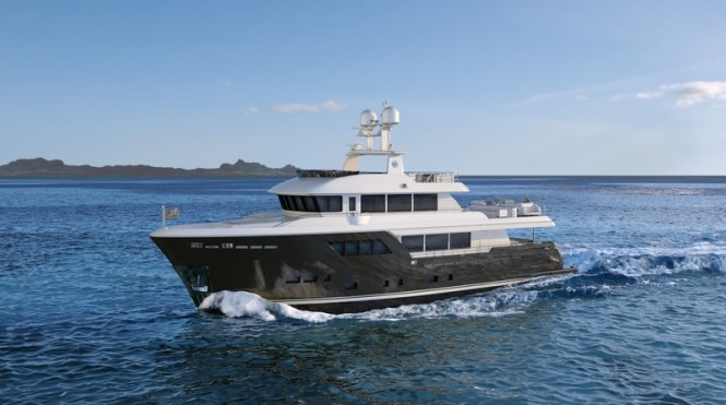 Rendering of CdM superyacht Darwin 102