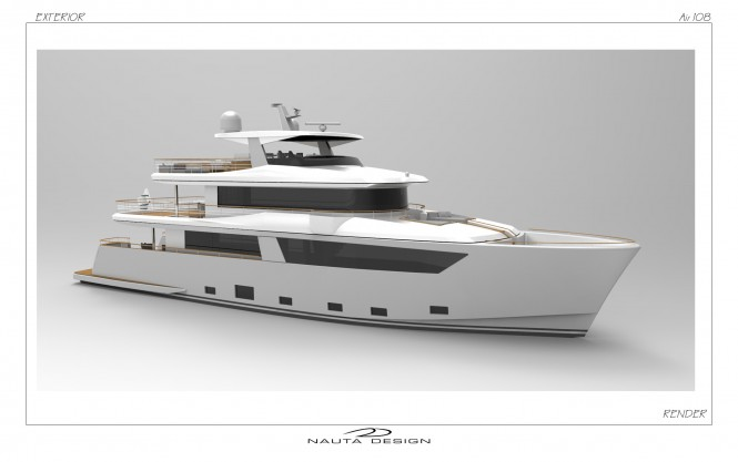 Rendering of luxury yacht Nauta Air 108