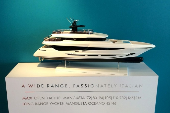 Scale model of Overmarine Group Yacht at SYS 2015